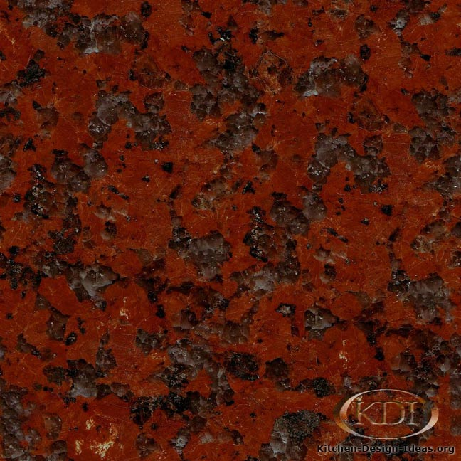 African Red Granite Kitchen Countertop Ideas