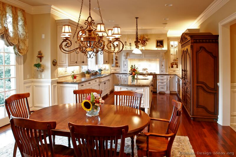 Beautiful A Creamy White Kitchen With Antique Kitchen Cabinets Ideas