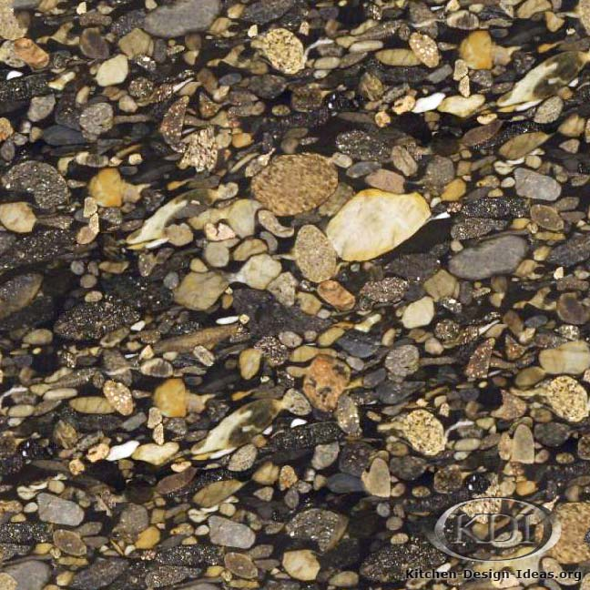 Mosaic Kitchen Countertop Ideas Part - 27: Black Mosaic Gold Granite. Kitchen Countertop Ideas » ...