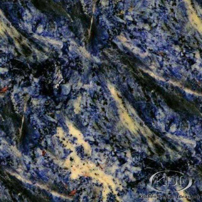 Blue Fantasy Granite Kitchen Countertop Ideas