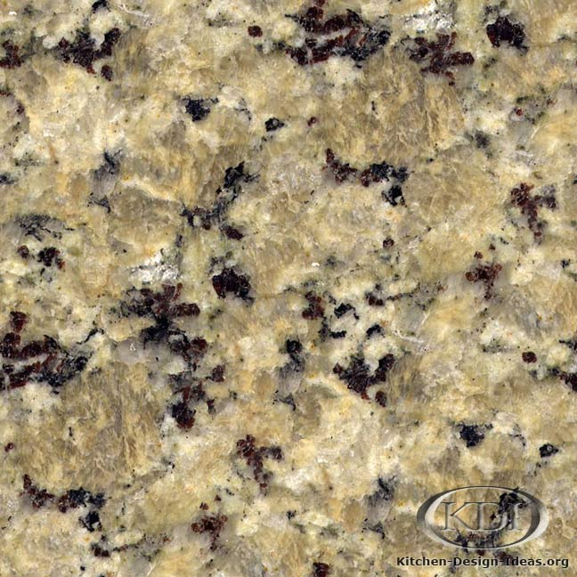 Butterfly Yellow Granite Kitchen Countertop Ideas