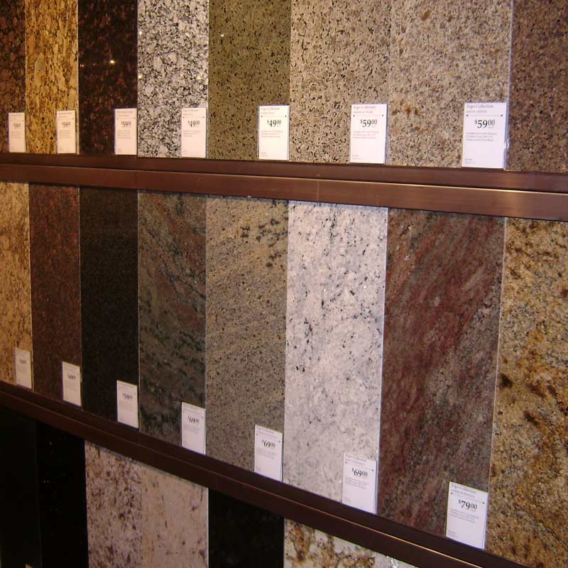 Price Of Kitchen Countertops : Options Costs White Granite Also Wooden Brown Kitchen Cabinet With ...