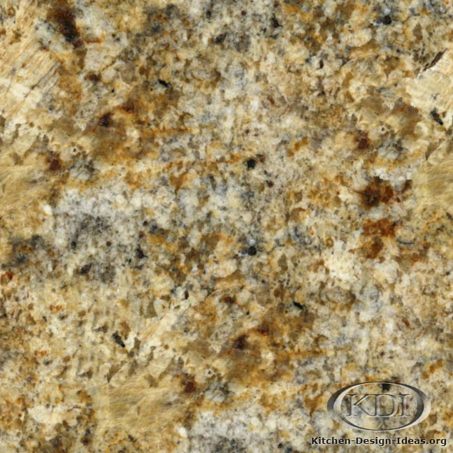 Delicatus gold granite kitchen countertop ideas for Photo de granite