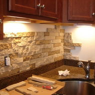 Do It Yourself Backsplash (Copyright: Stilettos and Diapers Blog)