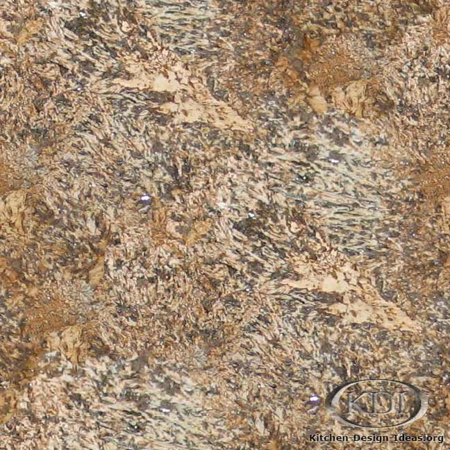 Golden Exotic Granite. Kitchen Countertop ...