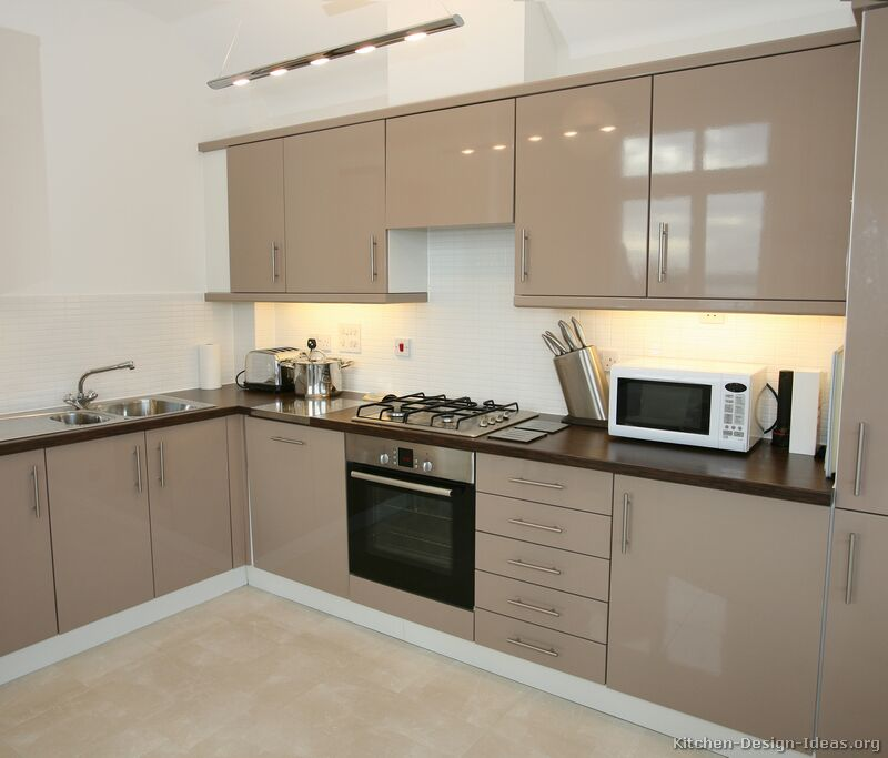 Pictures of kitchens modern beige kitchen cabinets for Modern kitchen units