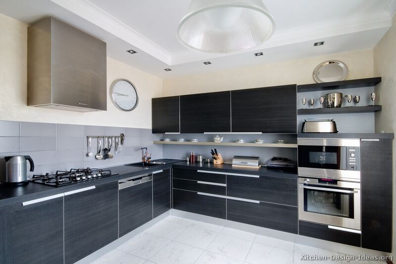 Modern Black Kitchen   Black Kitchen Cabinets