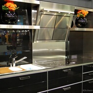 Modern Black Kitchen