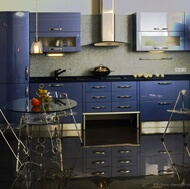 Modern Blue Kitchens