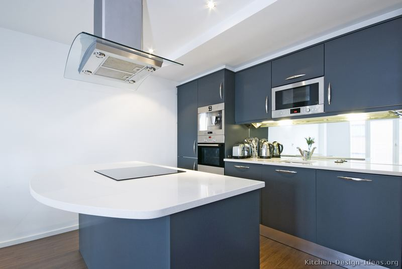 Pictures Of Kitchens Modern Blue Kitchen Cabinets Kitchen 4