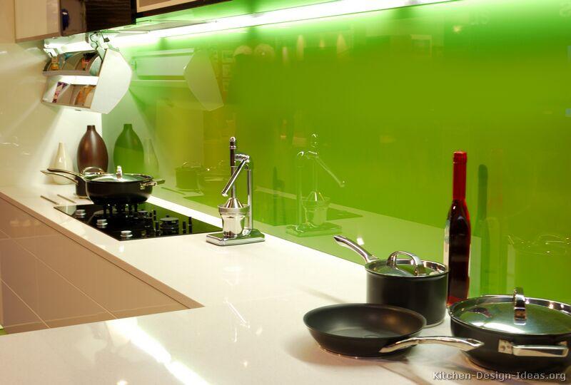 Pictures of kitchens modern cream antique white for Modern green kitchen designs