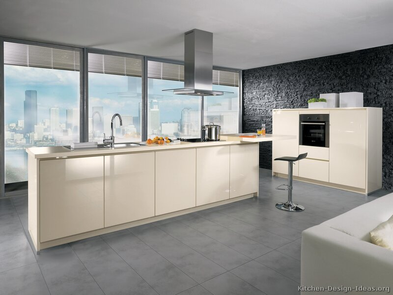 Pictures of kitchens modern cream antique white for Kitchen designs modern white