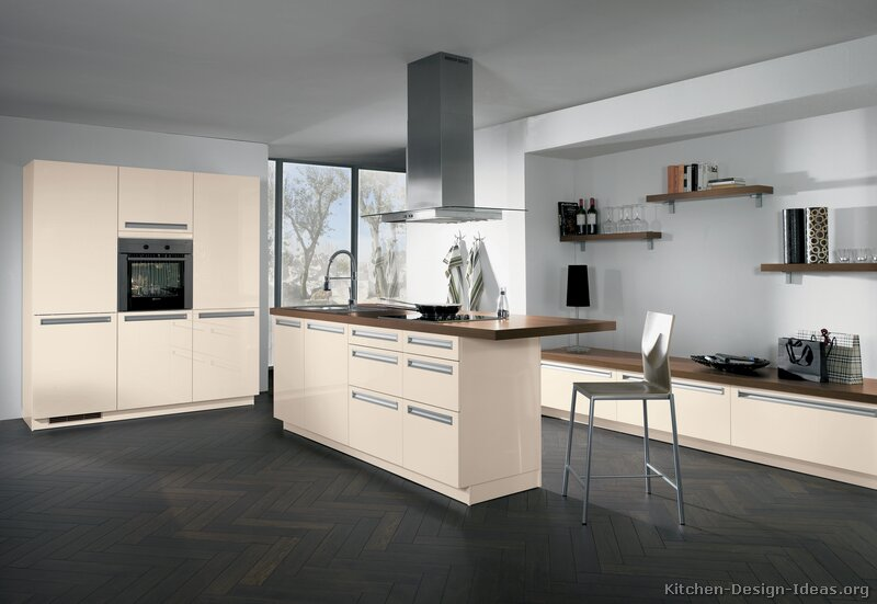 Pictures of kitchens modern cream antique white kitchens for Kitchen designs modern white