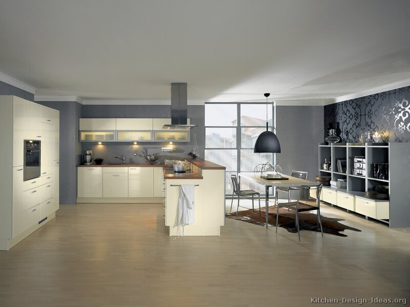 Pictures of kitchens modern cream antique white kitchens Kitchen designs with grey walls