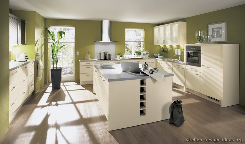of Kitchens  Modern  Cream  Antique White Kitchens (Kitchen #8