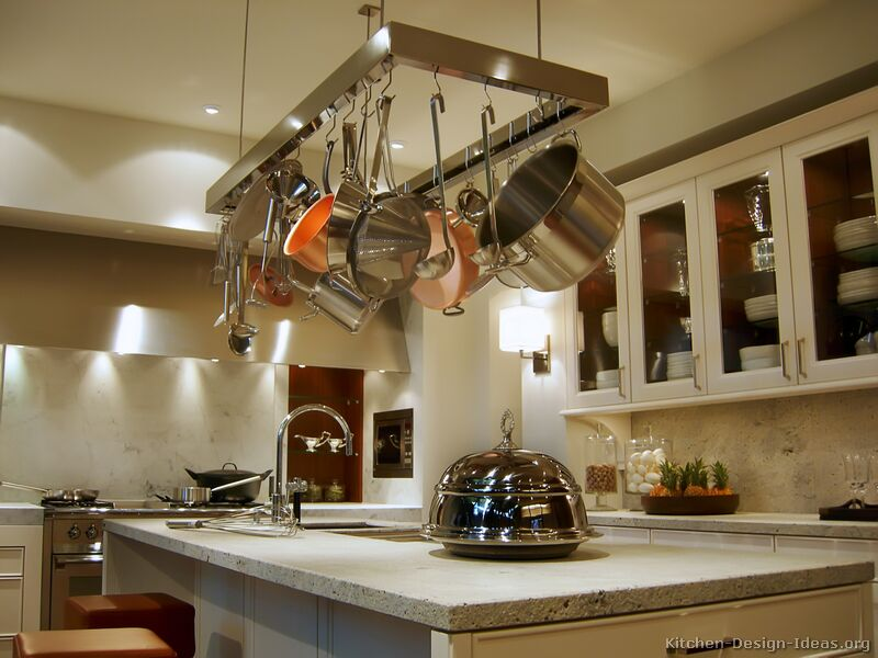 Pictures of kitchens modern cream antique white kitchens for Hanging cabinet design for kitchen