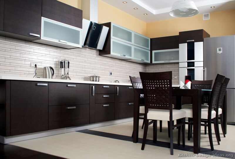 Dark Wood Modern Kitchen Cabinets dark kitchen cabinets modern pictures of kitchens modern dark wood