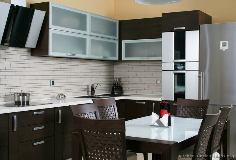 Pictures of kitchens modern dark wood kitchens kitchen 2 Modern kitchen tiles design pictures