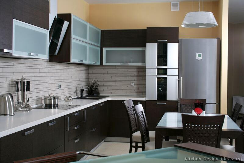 Pictures of Kitchens  Modern  Dark Wood Kitchens (Kitchen #2)