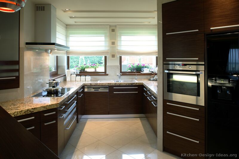 Pictures of Kitchens  Modern  Dark Wood Kitchens (Kitchen #3)
