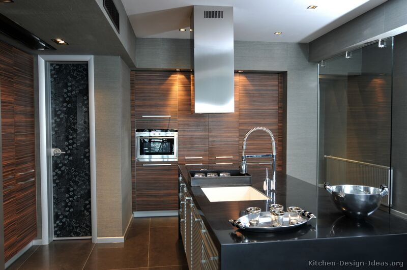 Pictures of Kitchens  Modern  Dark Wood Kitchens (Kitchen #5)