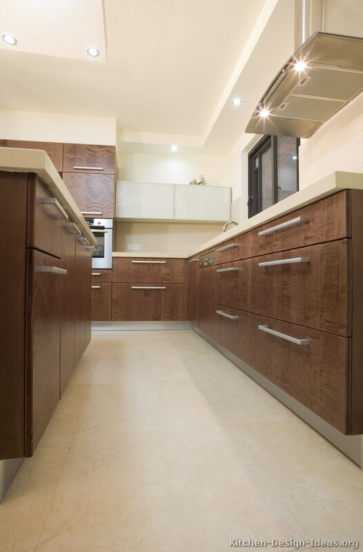 Pictures of Kitchens  Modern  Dark Wood Kitchens (Kitchen #7)