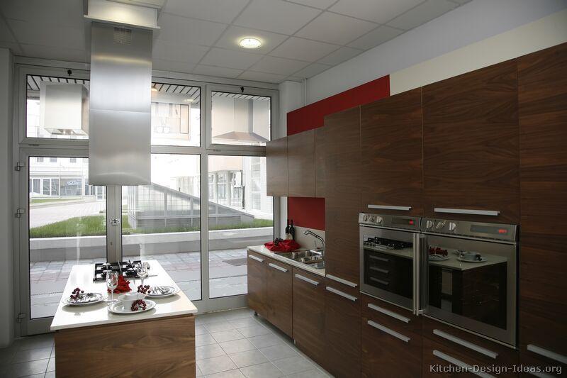 Pictures of Kitchens  Modern  Dark Wood Kitchens (Kitchen #8)