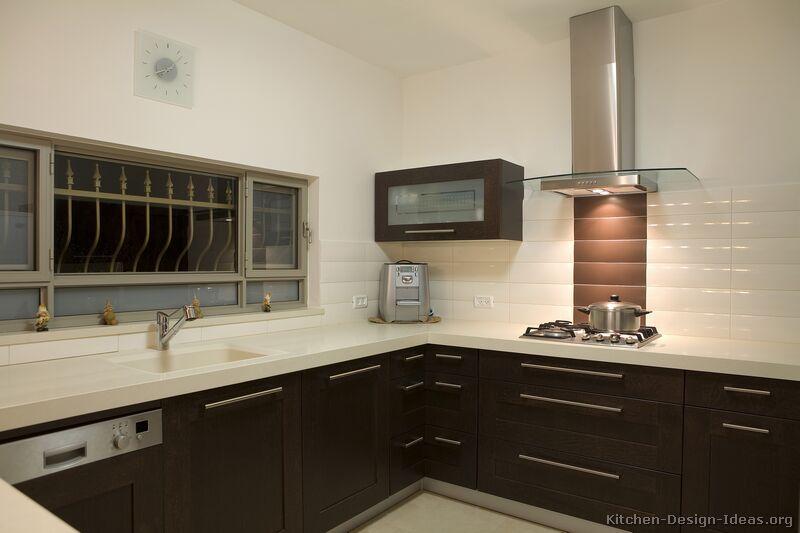 Pictures of Kitchens  Modern  Dark Wood Kitchens (Kitchen #9)