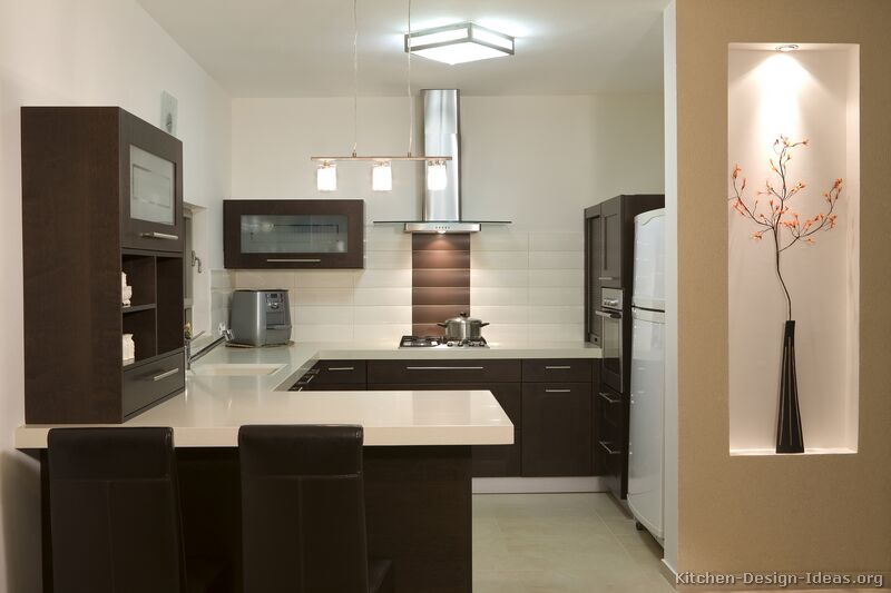 08 more pictures modern dark wood kitchen - Kitchen Designs Dark Cabinets