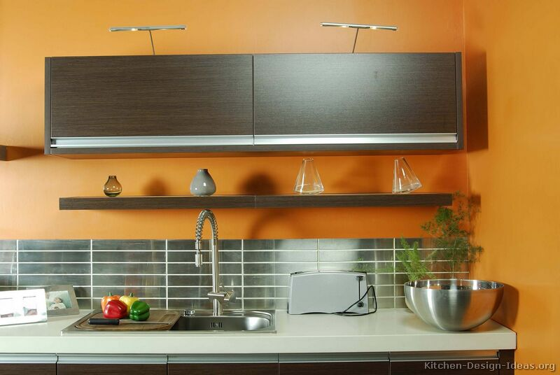 Yellow orange kitchen colors pinterest orange and yellow for Dark orange kitchen