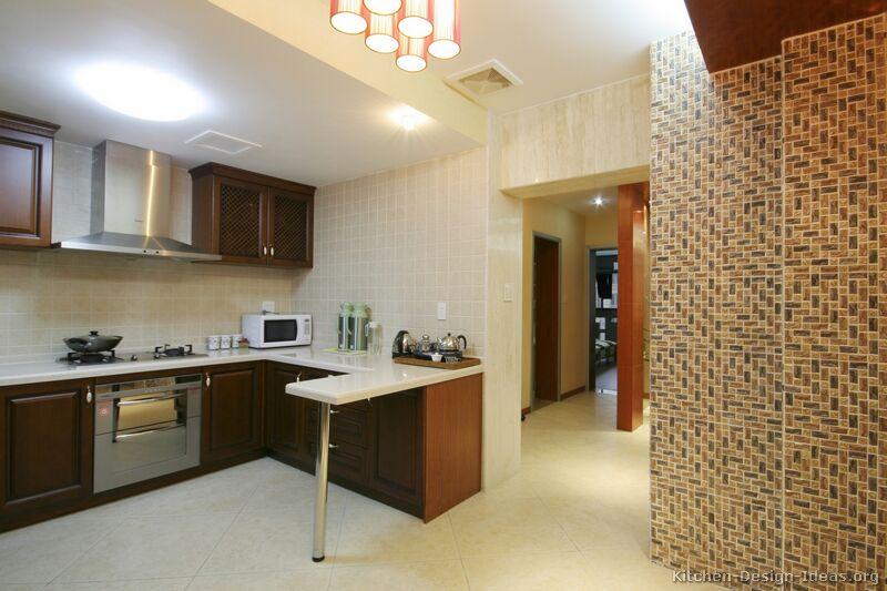 Pictures of Kitchens  Modern  Dark Wood Kitchens (Kitchen #13)