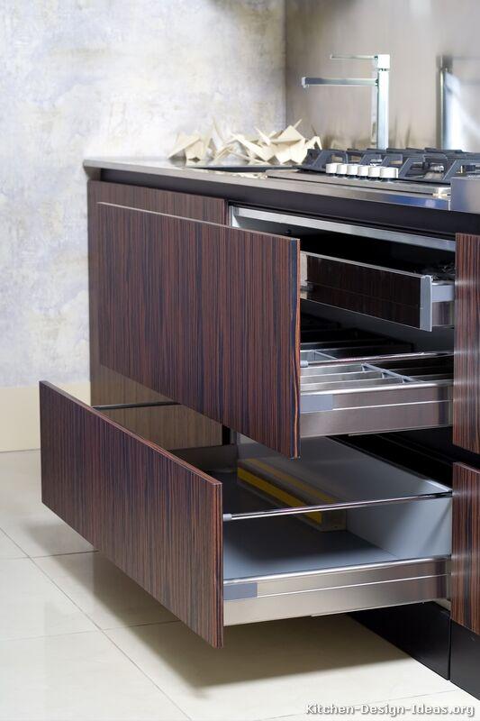 Pictures of Kitchens  Modern  Dark Wood Kitchens (Kitchen #16)