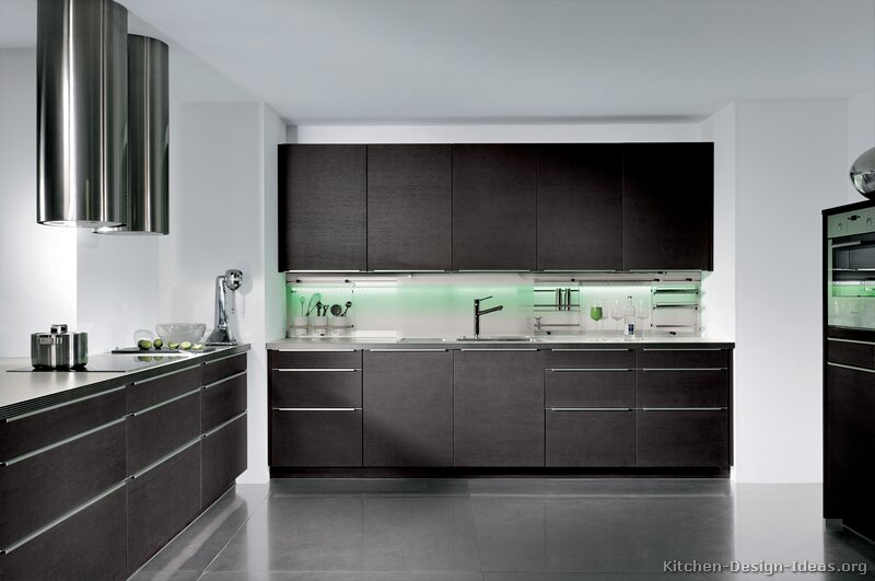 Pictures of Kitchens  Modern  Dark Wood Kitchens (Kitchen #17)