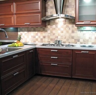 Modern Dark Wood Kitchens