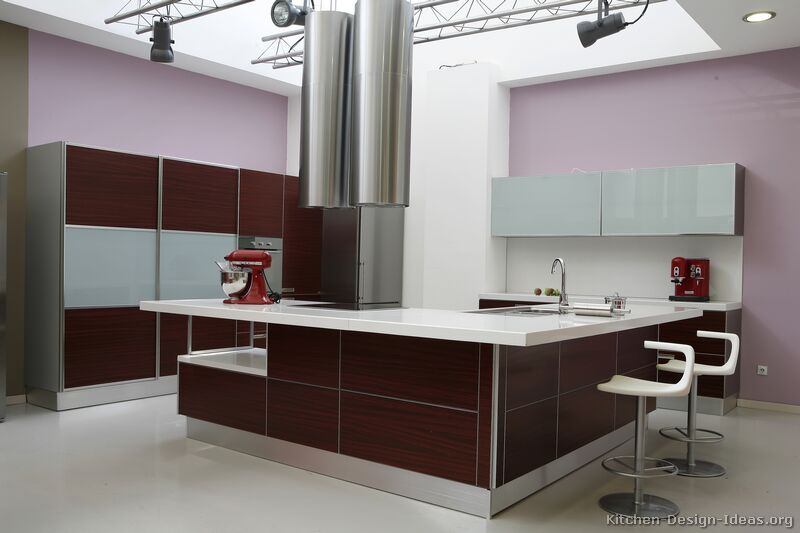 Modern L Shaped Kitchen With Island