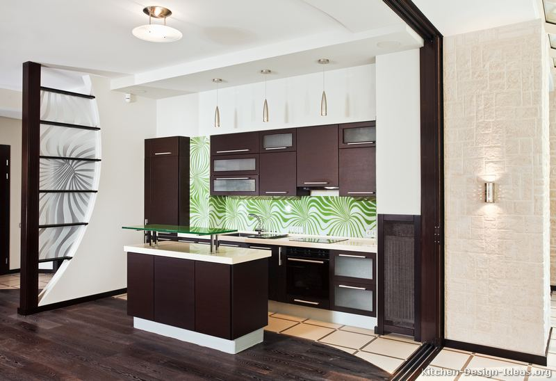 02 Modern Dark Wood Kitchen