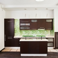 Modern Dark Wood Kitchen