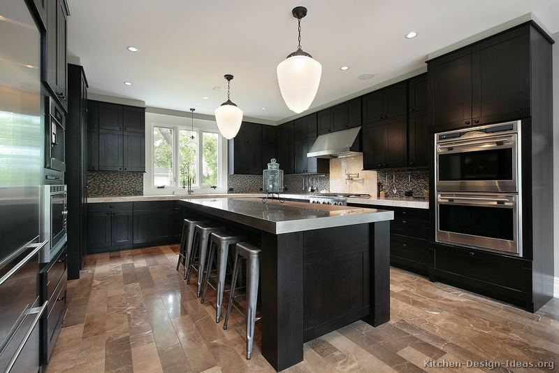 Dark Wood Kitchen Cabinets Modern