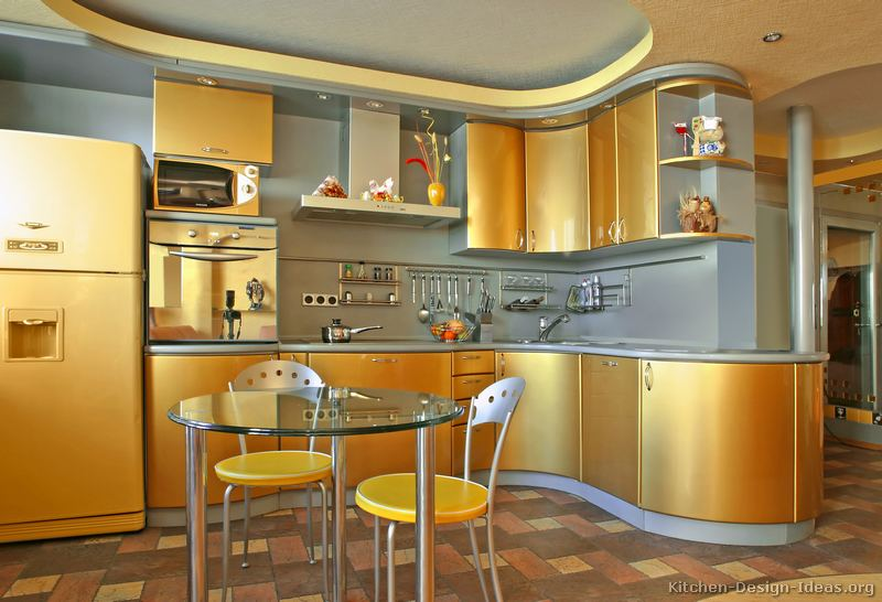 Kitchen Gallery Modern Gold Kitchens Kitchen #2