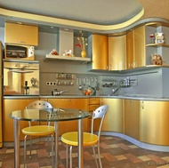 Modern Gold Kitchen