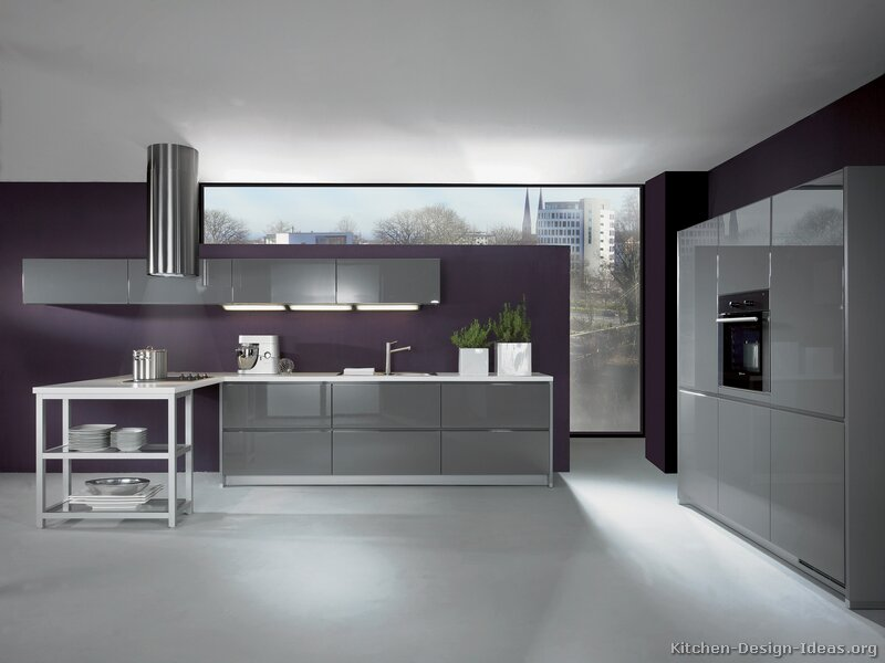 Pictures of kitchens modern gray kitchen cabinets for Modern kitchen units