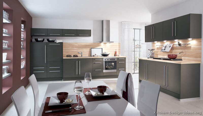 04 more pictures modern gray kitchen - Modern Kitchen Cabinets Images