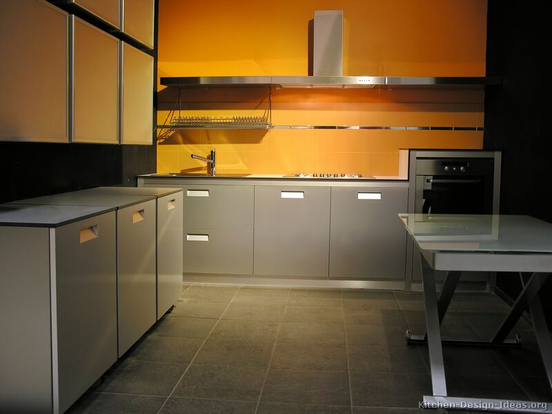 Pictures of kitchens modern gray kitchen cabinets Kitchen designs with grey walls