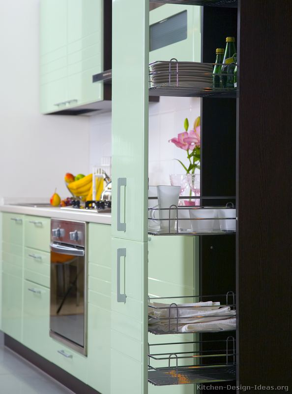 Pictures of Kitchens  Modern  Green Kitchen Cabinets (Kitchen #3)