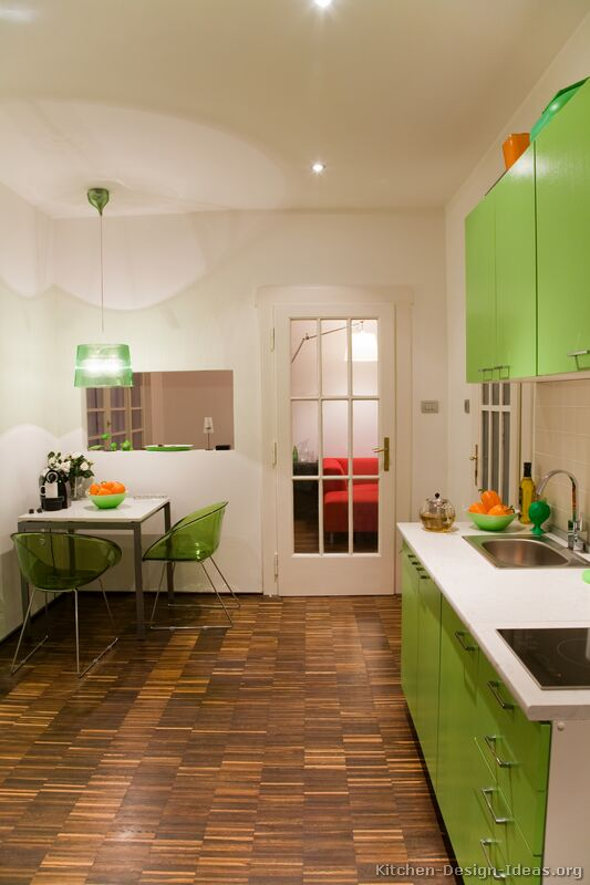 modern green kitchen - Green Kitchen Table