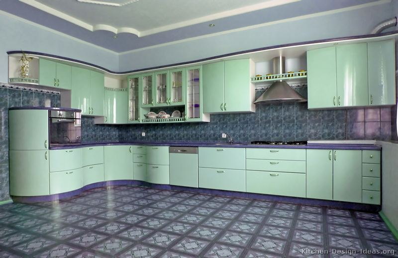 Pictures of Kitchens  Modern  Green Kitchen Cabinets (Kitchen #8)