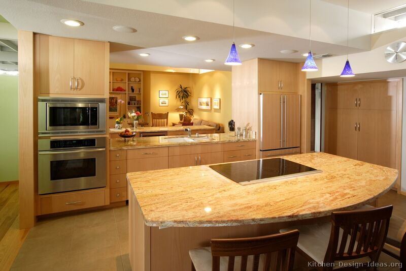 Light Colored Granite Countertops With White Cabinets : Pictures of Kitchens - Modern - Light Wood Kitchen Cabinets (Kitchen ...