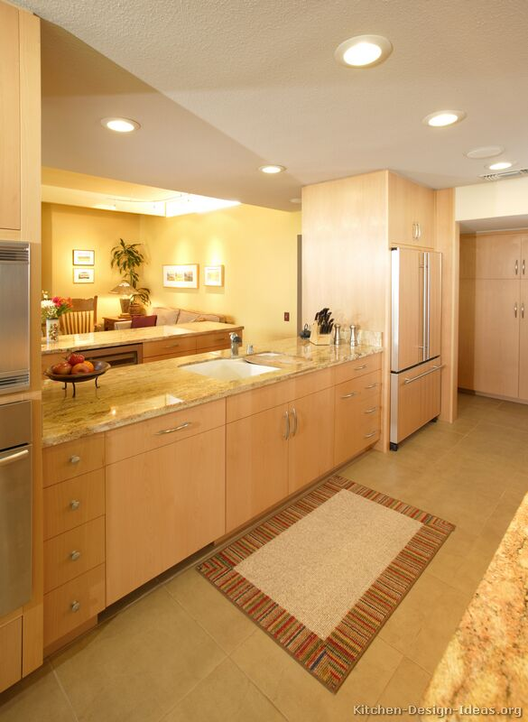 of Kitchens  Modern  Light Wood Kitchen Cabinets (Kitchen #4