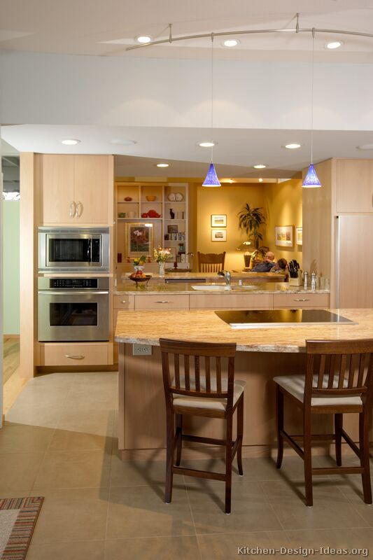 Pictures of Kitchens - Modern - Light Wood Kitchen Cabinets (