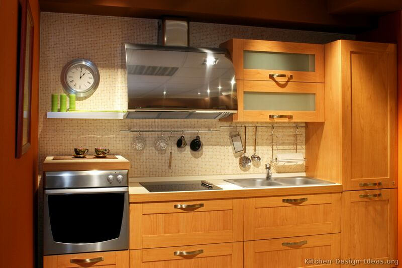 of Kitchens  Modern  Light Wood Kitchen Cabinets (Kitchen #5
